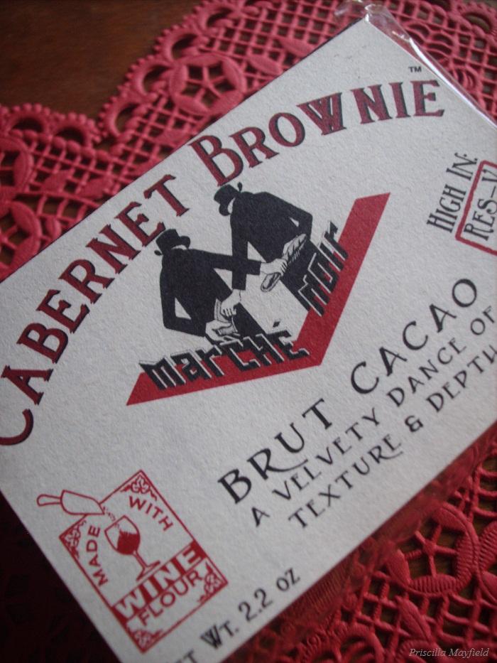 Cabernet brownie by Blackmarket Bakery—street by M.C. Escher