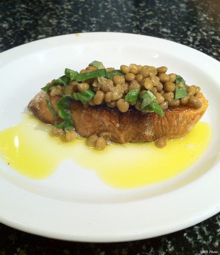When fab is also way easy―bruschetta with Carmelina Brands' no-additive legumes