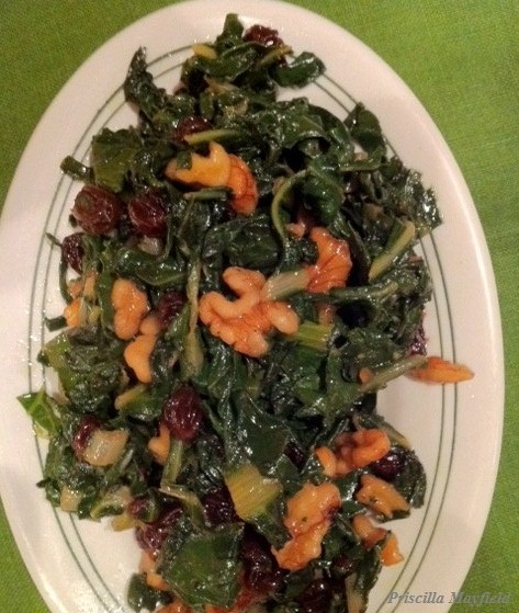 What Did We Cook: Swiss Chard With Walnuts and Raisins