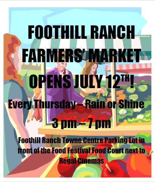 Where's O.C.'s Newest Farmers Market? Foothill Ranch!