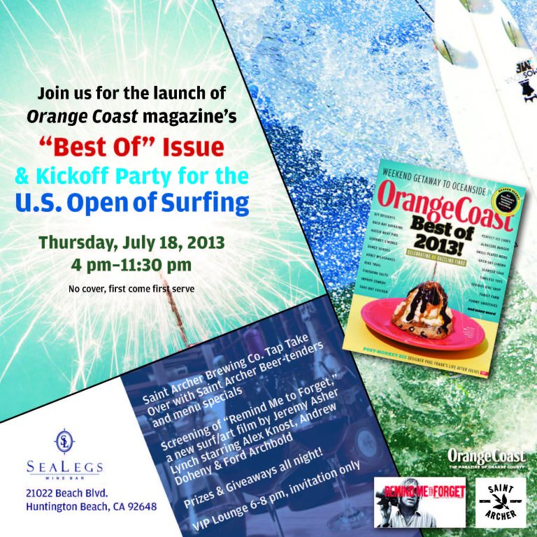 """""""Best Of"""" Issue Launch & Kickoff Party for the U.S. Open of Surfing"""