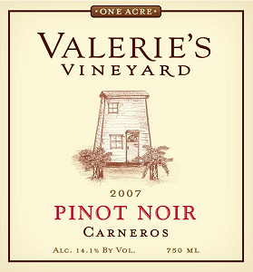 Must-Try of the Week: 2010 Valerie's Vineyard Carneros Pinot Noir