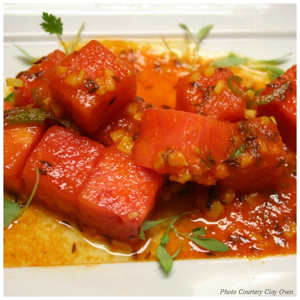 Cool, Hot Watermelon From Geeta Bansal of Irvine's Clay Oven