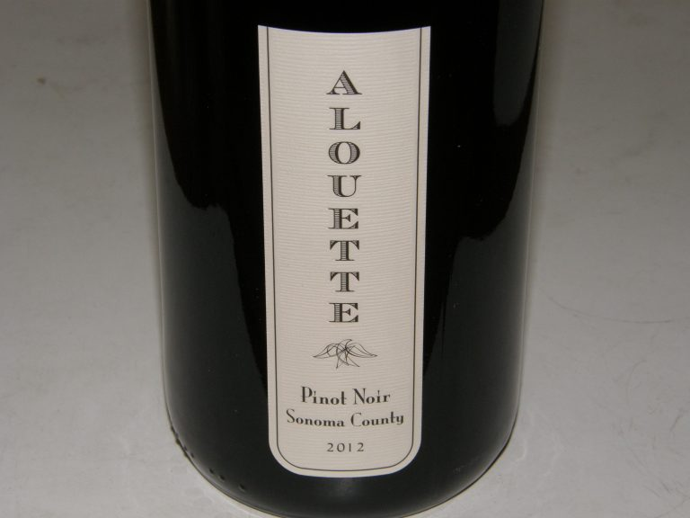 Must-Try Wine of Week: 2012 Alouette Sonoma County Pinot Noir