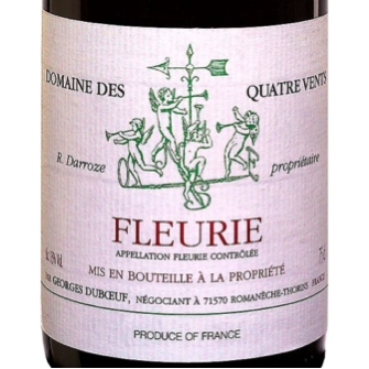 Must-Try Wine of the Week: Georges Duboeuf 2011 Fleurie Domaine des Quatre Vents Beaujolais