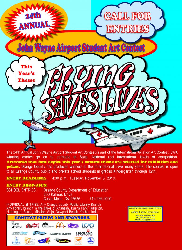 'Flying Saves Lives' Theme of Airport's Student Art Contest