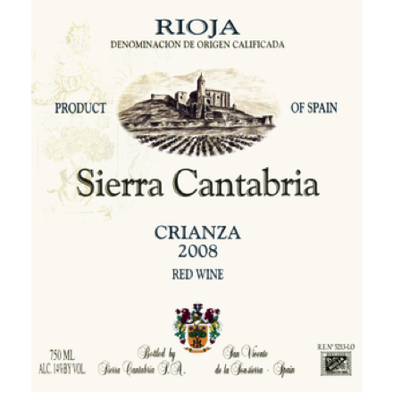 Must-Try Wine of the Week: Bodega Sierra Cantabria Crianza 2008, Rioja DOCa, Spain
