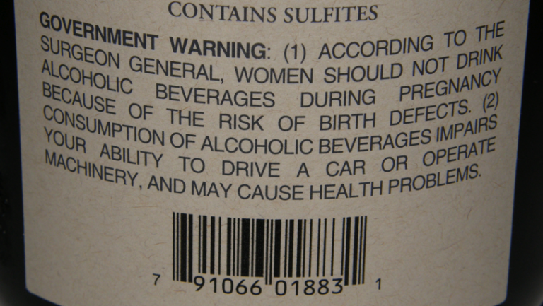 Government Warnings on Wine Consumption