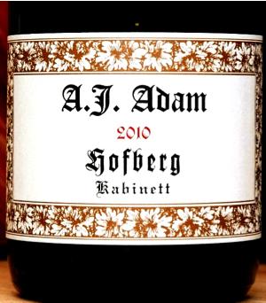 Must-Try Wine of the Week: A.J. Adam Dhron Hofberg Kabinett 2010 Riesling, Mosel, Germany