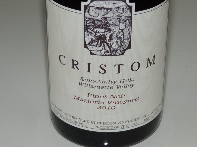 Must-try Wine of Week: 2010 Cristom Vineyards Marjorie Vineyard Eola-Amity Hills Willamette Valley Pinot Noir
