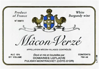 Must-Try Wine of the Week: Domaines Leflaive 2011 Mâcon-Verzé, Burgundy, France