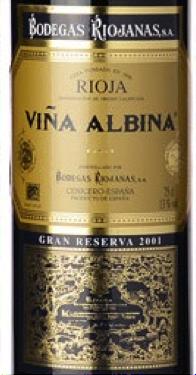 Must-Try Wine of the Week: Bodegas Riojanas Rioja Viña Albina 2001 Gran Reserva DOCa, Rioja, Spain