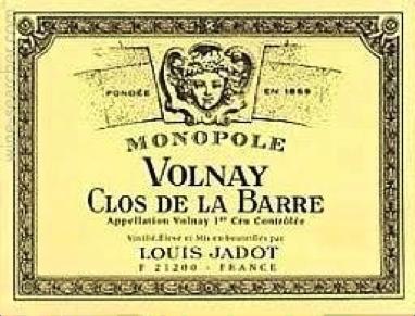 Must Try Wine of the Week: Louis Jadot 2011 Clos de la Barre, Monopole Volnay Premier Cru, France