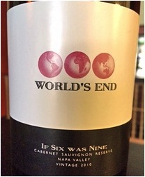 """Must-Try Wine of the Week: World's End 2010 """"If Six Was Nine"""" Cabernet Sauvignon, Napa Valley, California"""