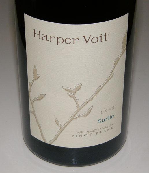 Must-Try Wine of Week: 2012 Harper Voit Surlie Willamette Valley Pinot Blanc