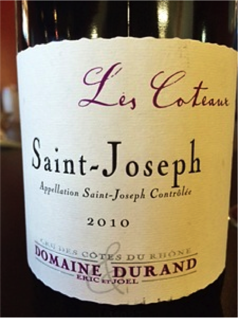 "Must-Try Wine of the Week: 2010 Domaine Durand ""Les Coteaux,"" Saint-Joseph, France"