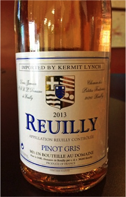 Must Try Wine of the Week: Domaine de Reuilly 2013 Pinot Gris Rosé Reuilly, France