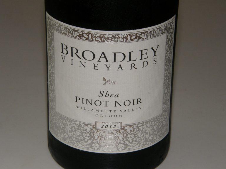 Must-Try Wine of Week: 2012 Broadley Shea Vineyard Willamette Valley Pinot Noir
