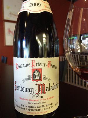 Must-Try Wine of the Week: Domaine Prieur-Brunet 2009 Santenay-Maladiere 1er Cru, Burgundy, France