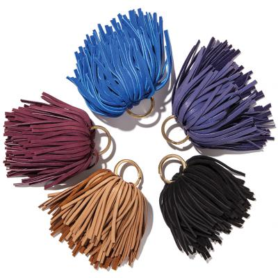 Colorful leather key chains are made exclusively for Jolie, $58.