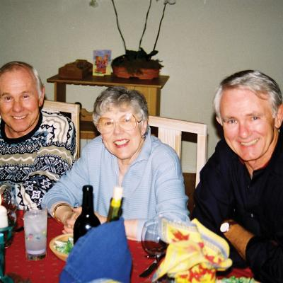 Carson and siblings Catharine (Sotzing's mother) and Dick, spend a Christmas at Sotzing's Fullerton home.