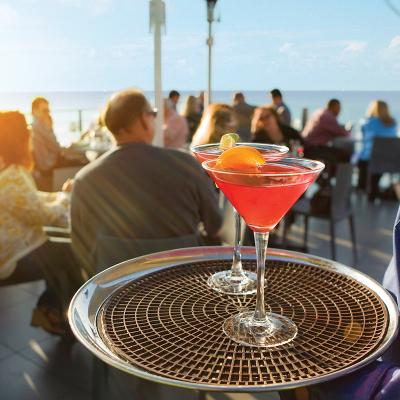 Cocktails at Georges at the Cove: Ocean Terrace