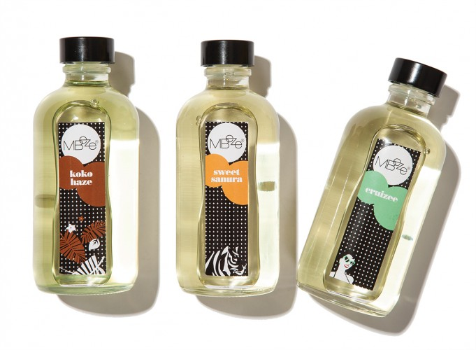 Trade in your lotions for body oils by Mbeze, $21