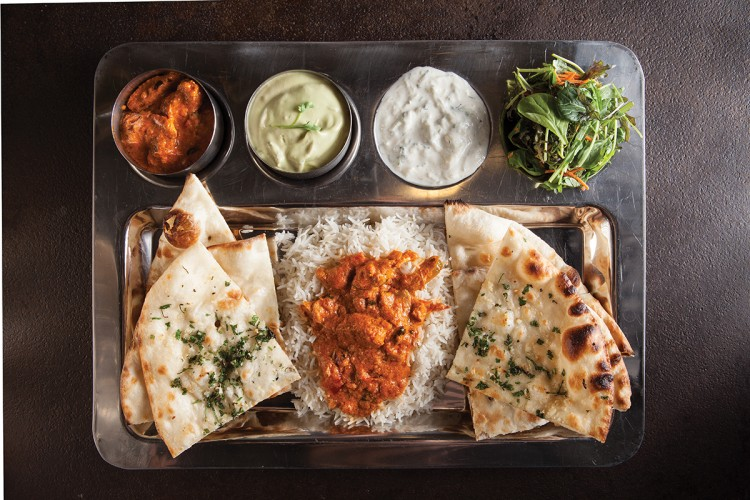 Indian street fare at Adya; The Blind Rabbit