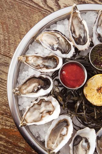 Fresh West Coast oysters.