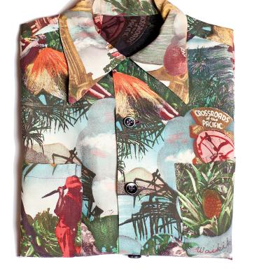 crossroads of the pacific photo print shirt, 1940s,  $550