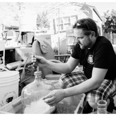 Brewing at home, photo Brian Evans, Thee Beer Book