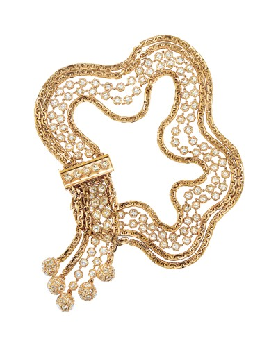 18 Kt. gold, rose diamond and crystal necklace, $275,000, Tiffany's South Coast Plaza.