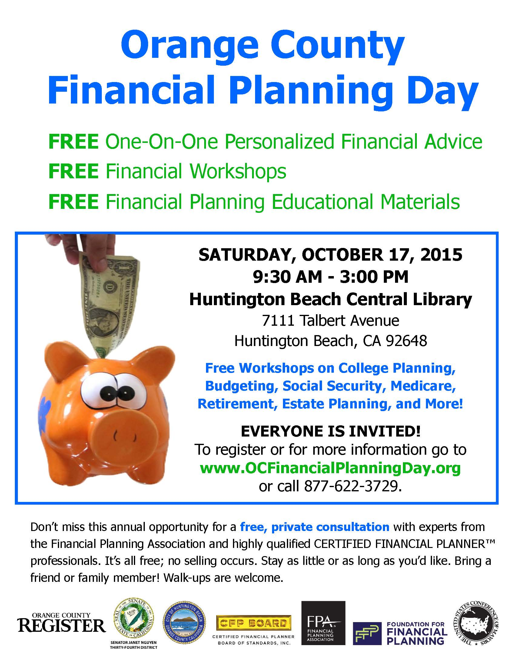 city of huntington beach s free financial planning day on october 17