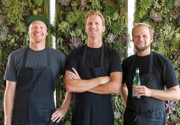 Chefs Moriah Robison, Rayne Frey, and Kai Robison.