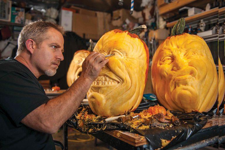 Spectacularly Spooky Pumpkin Artist Jon Neill