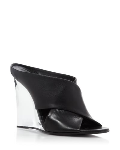 McQ mirror wedge mirror sandals, $685, Bloomingdale's Fashion Island