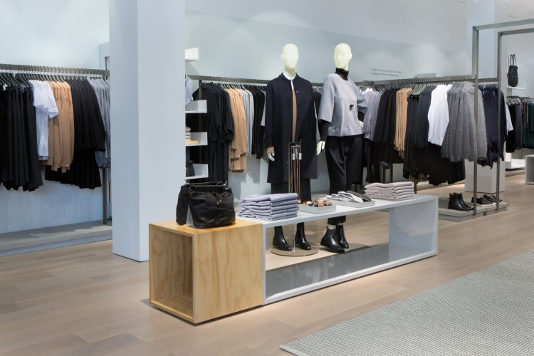 A view of the men's section at COS. The store is 80 percent womenswear and 20 percent mens and children.