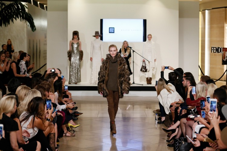 Ralph Lauren look from the Live the Look fashion show at South Coast Plaza on October 8, 2015, in Costa Mesa, California.  (Photo by Ryan Miller/Capture Imaging)