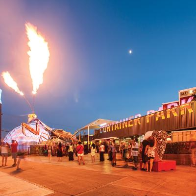 The Container Park in downtown Las Vegas