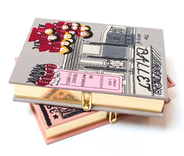 Ballet book clutches from olympian le tan, $1,715