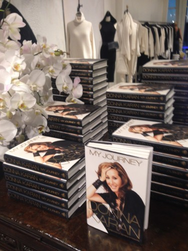 """A stack of Donna Karan's new autobiography, """"My Journey"""" at A'Maree's in Newport Beach. JULIE GALLEGO"""