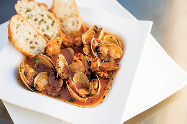 Oaxacan-style chorizo clams in cream sauce starter