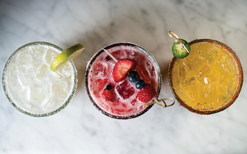 A trio of refreshing cocktails
