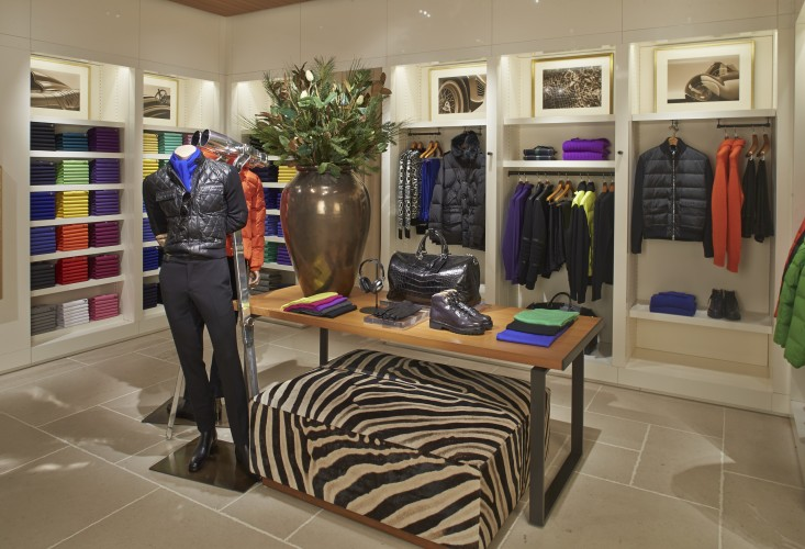 The men's section of the newly renovated Ralph Lauren boutique at South Coast Plaza