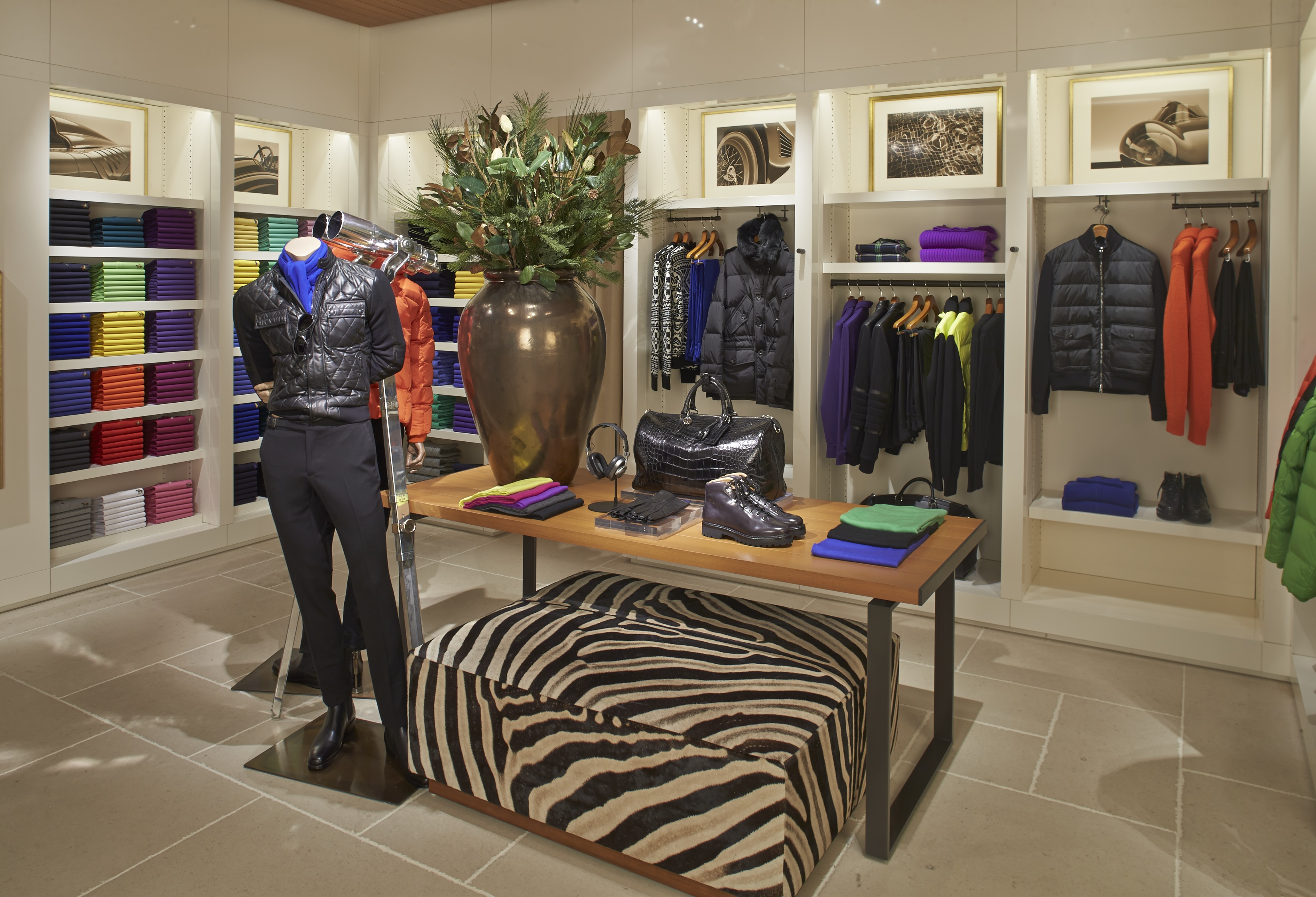 7d33a9bfe51a The men s section of the newly renovated Ralph Lauren boutique at South  Coast Plaza