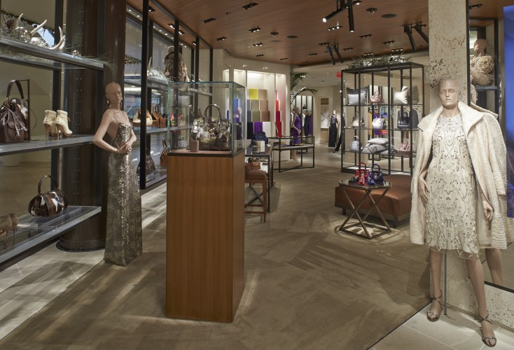 A view of the Ralph Lauren boutique's womenswear section.