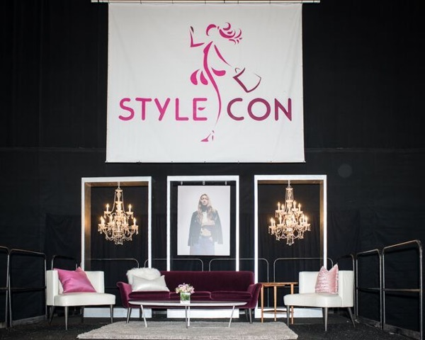 The StyleCon StyleStage was purposely set up to resemble a chic living room using furnishings from Room and Board.