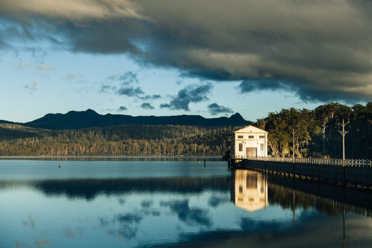 Reset Your Center of Gravity at Pumphouse Point, Lake St. Clair, Tasmania