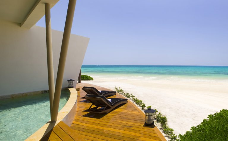 Slog Solution: White Sand Beaches at Rosewood Mayakoba Resort, Riviera Maya, Mexico