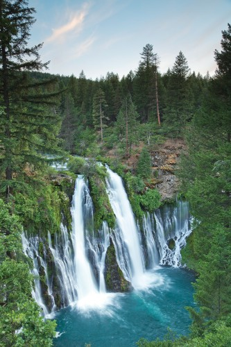 100 million gallons of water per day cascade down Burney Falls.